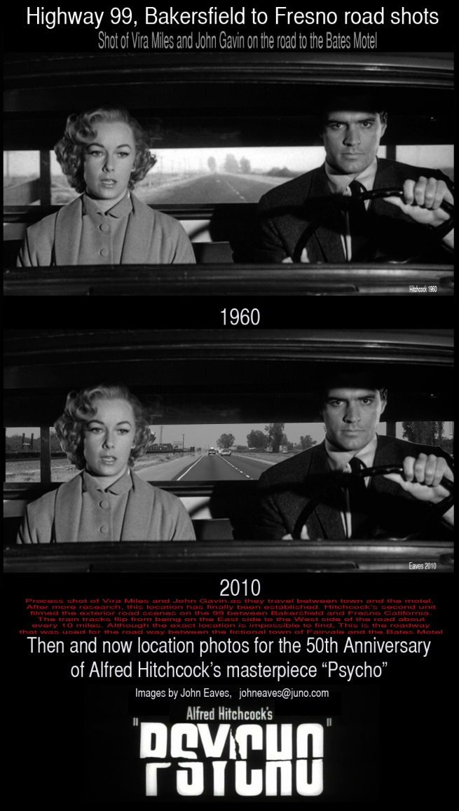 After Marion (Janet Leigh's) murder, Vera Miles and John Gavin travel back and forth between the Bates Motel and the town of Fairvale in search of the missing Marion.
