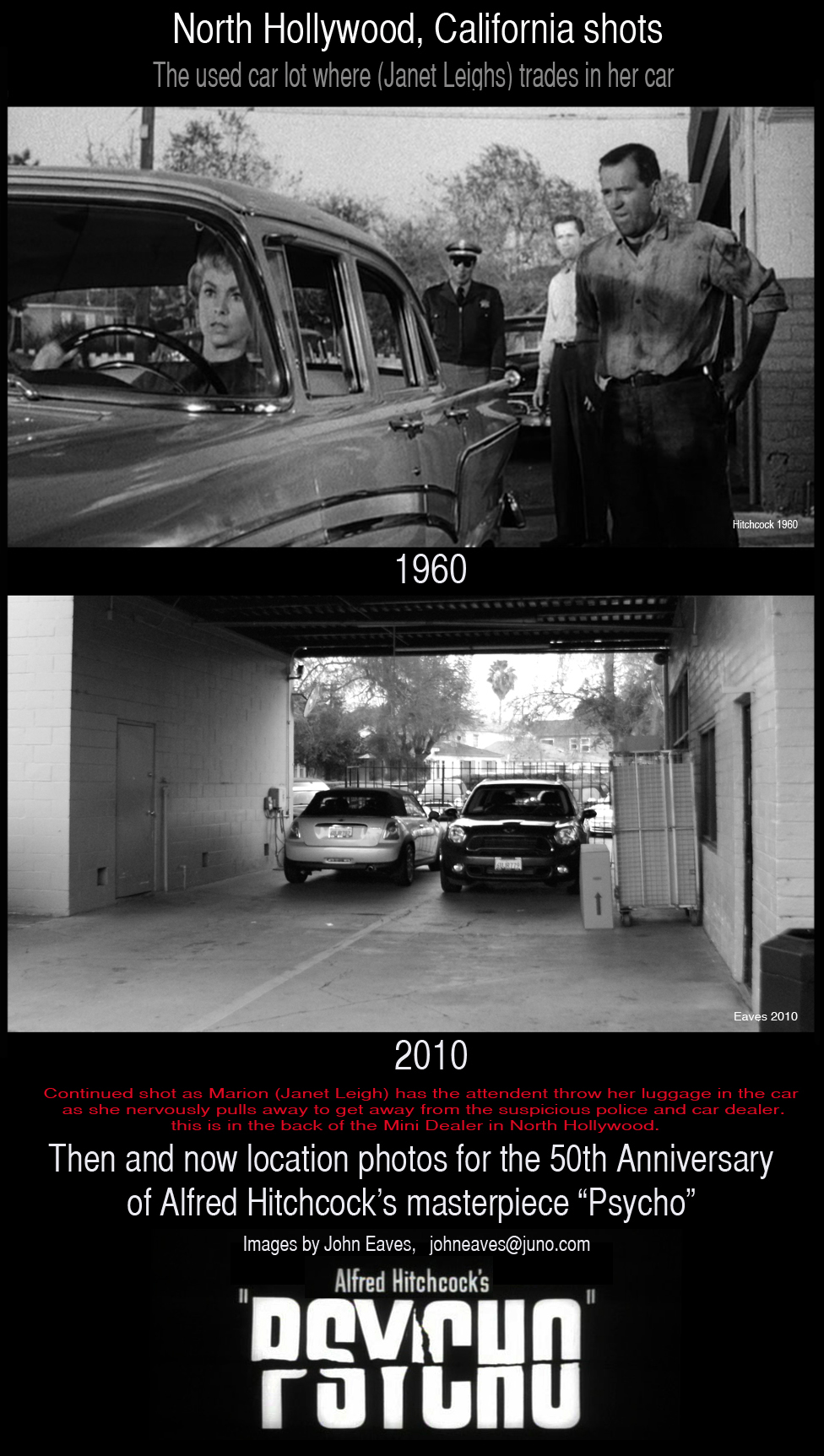 psycho filming locations a then and now look at hitchcock s 1960 masterpiece part 6. Black Bedroom Furniture Sets. Home Design Ideas