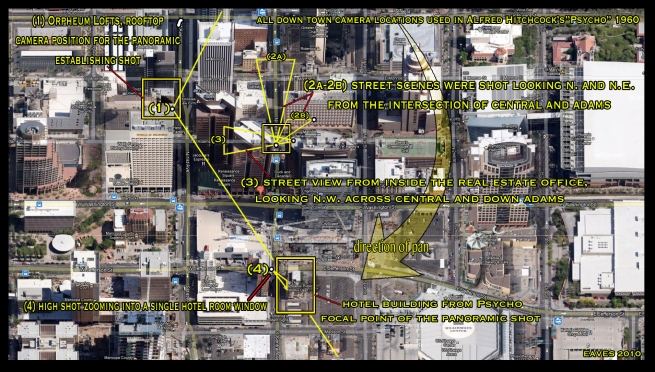 This final map highlights all of the downtown camera positions and their directions of framing.