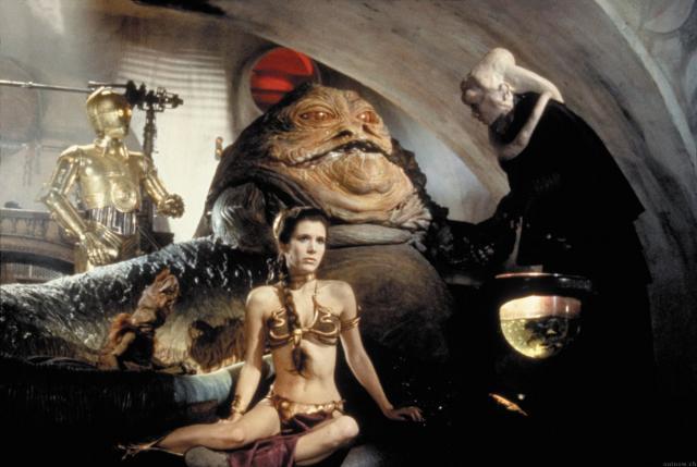 Jabba and Slave Leia.